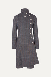 Chloé Asymmetric double-breasted wool-blend coat