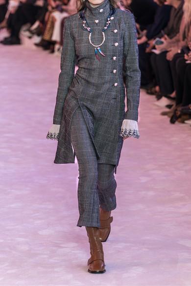 Chloé Coats Asymmetric double-breasted wool-blend coat