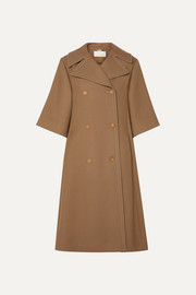 Chloé Oversized double-breasted wool and silk-blend twill coat