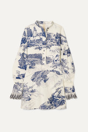 Chloé Printed cotton-twill mini dress