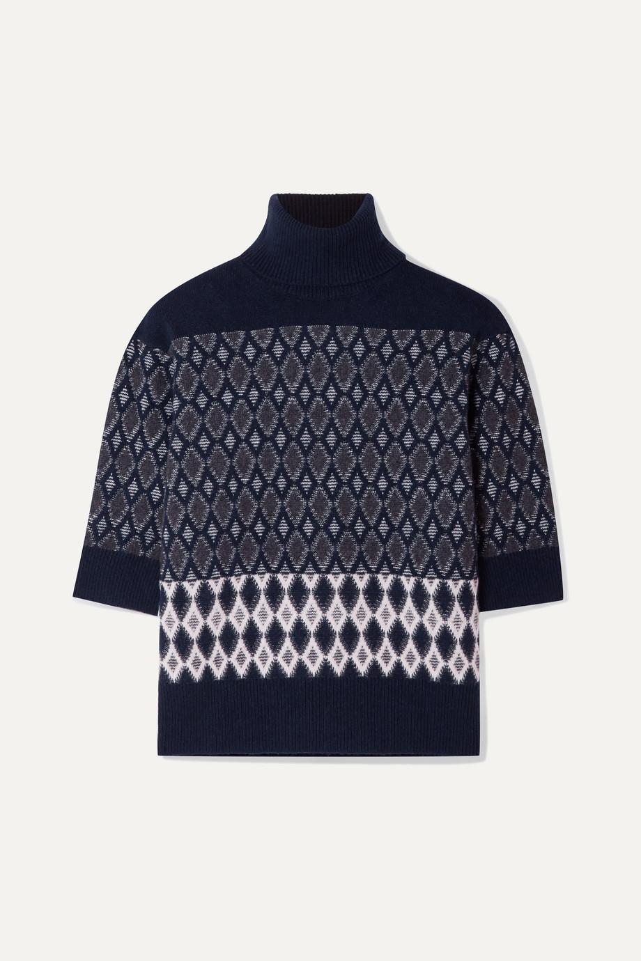 Chloé Intarsia merino wool-blend turtleneck sweater