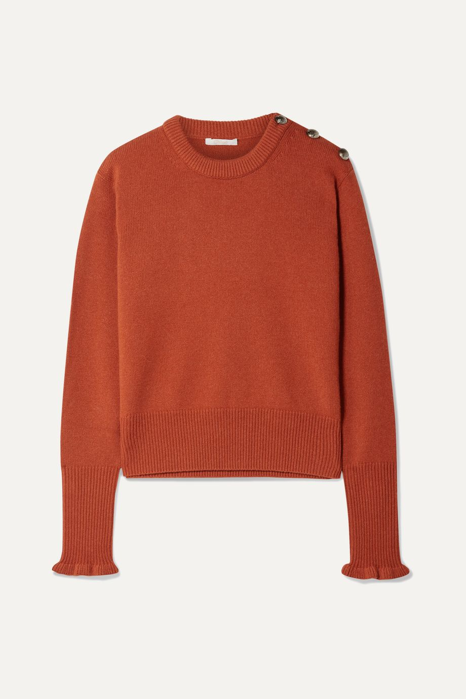 Chloé Button-detailed cashmere sweater