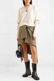 Chloé Convertible button-embellished wool-blend sweater