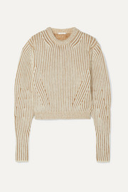 Chloé Ribbed two-tone wool-blend sweater