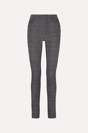 Chloé Prince of Wales checked stretch-wool blend slim-leg pants