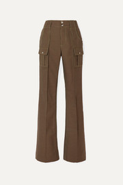 Chloé Houndstooth cotton-blend straight-leg pants