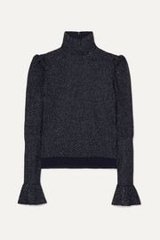 Chloé Metallic knitted turtleneck top