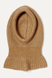 Chloé Ribbed alpaca, silk, mohair and merino wool-blend snood
