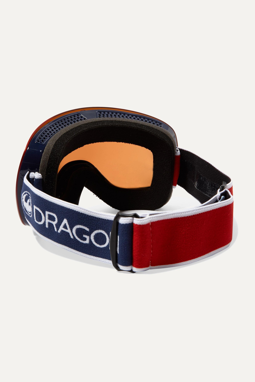 Dragon X1 mirrored ski goggles
