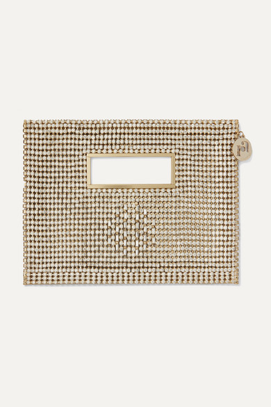 Iside Crystal Embellished Gold Tone Tote by Rosantica