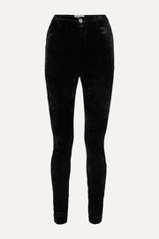 Attico Stretch-velvet skinny pants
