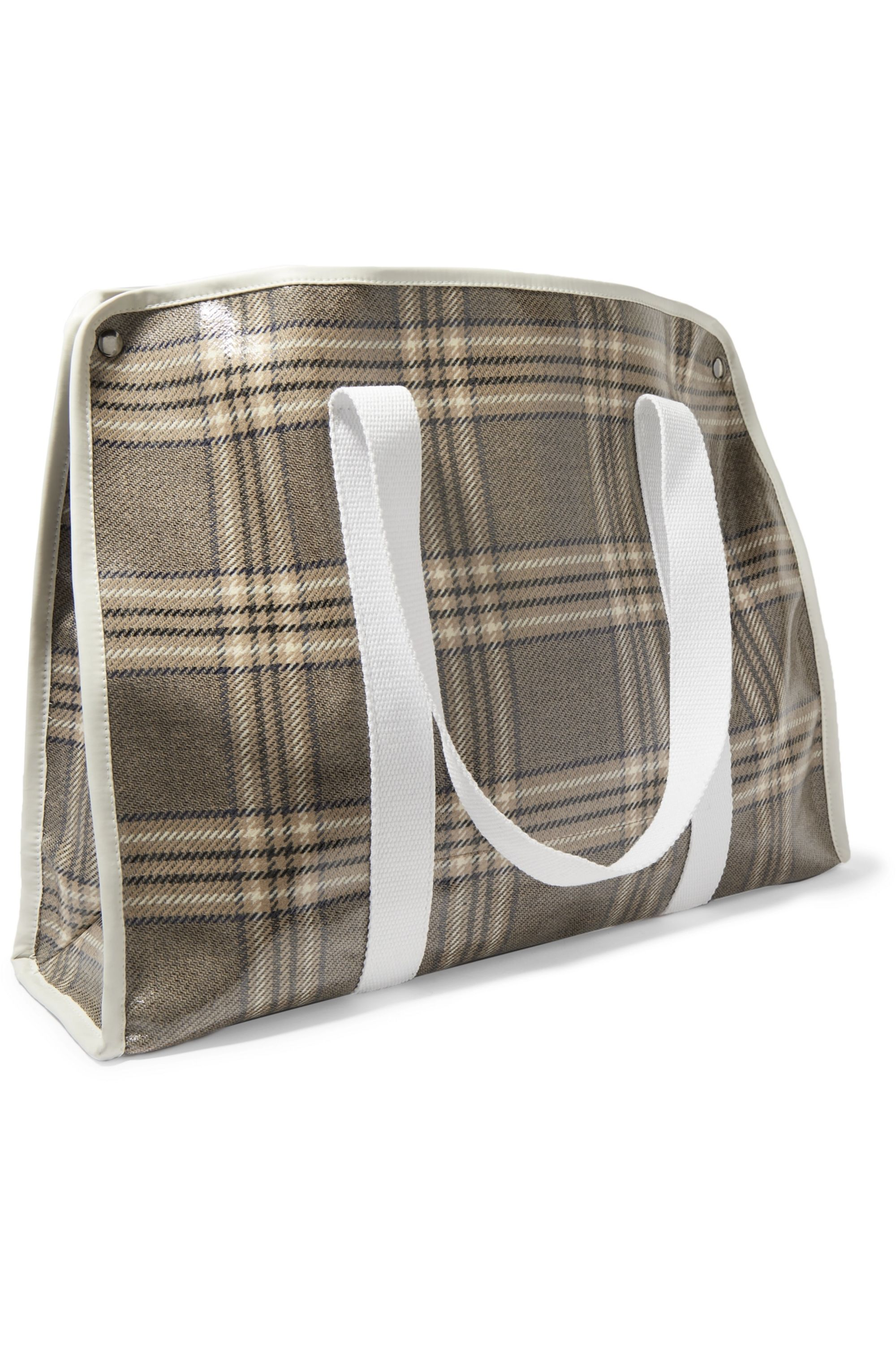 Kassl Editions Medium checked coated-canvas tote