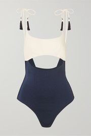 Guilia cutout two-tone swimsuit