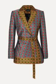 Saloni Maxima floral brocade wrap jacket