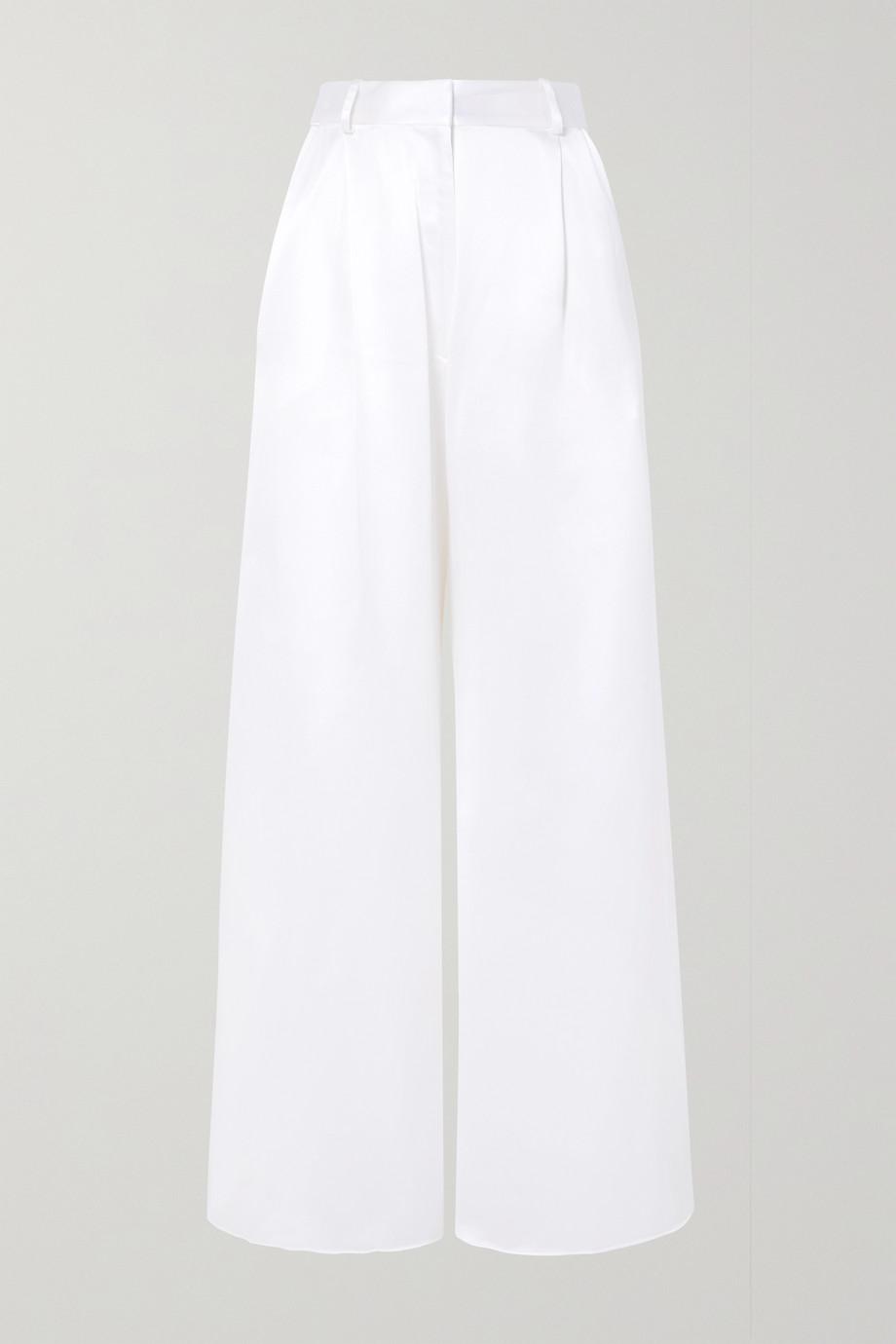 Michael Lo Sordo Belle silk-satin wide-leg pants
