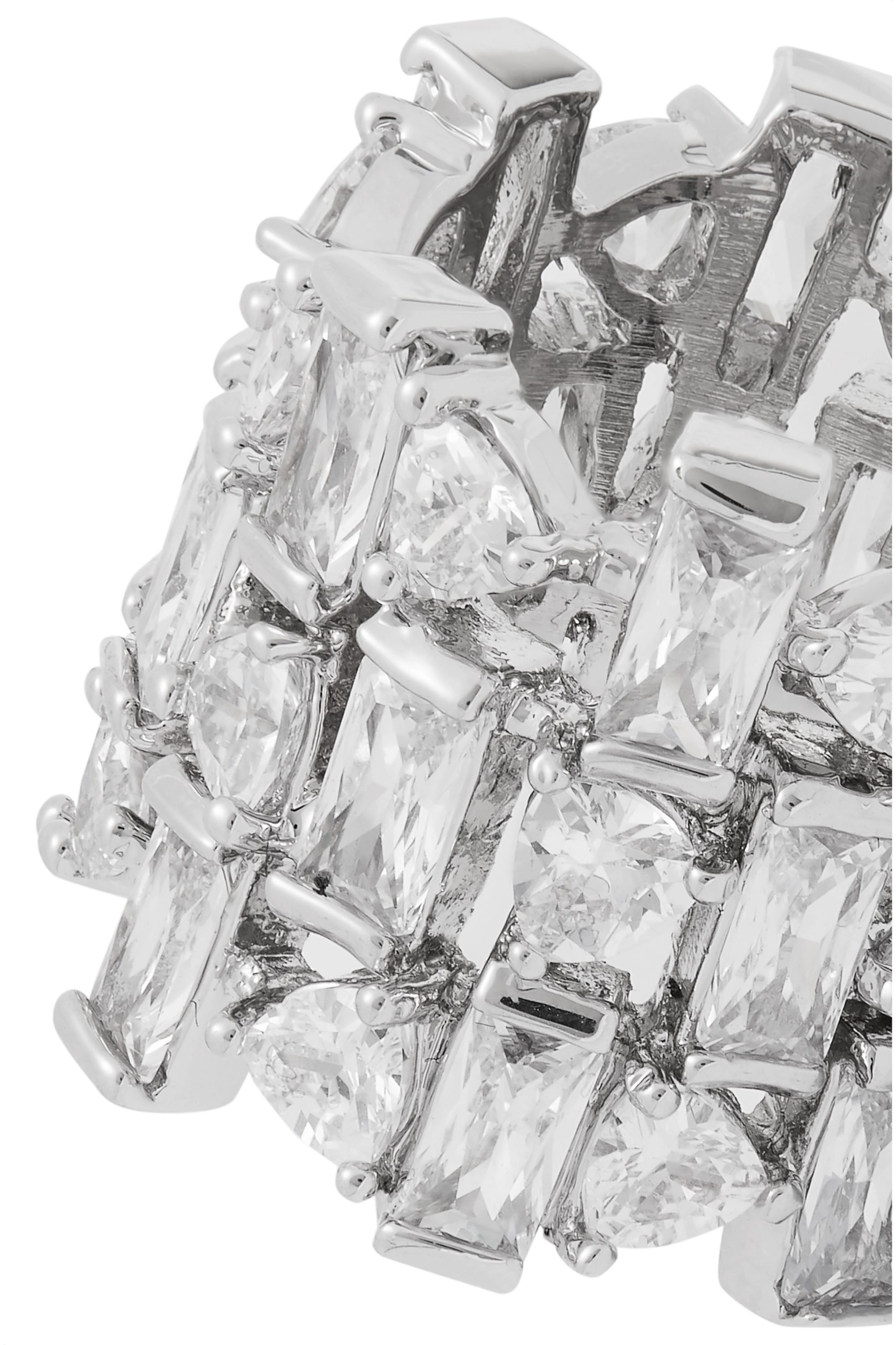 Kenneth Jay Lane Silver-tone cubic zirconia ring