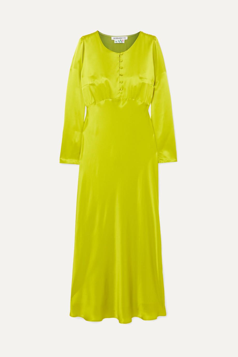 BERNADETTE Florence silk-satin midi dress