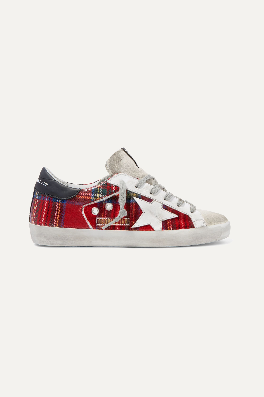Red Superstar tartan flannel and