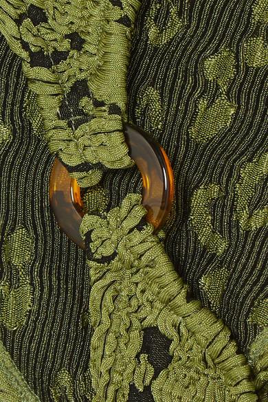 26c6a07319 Hunza G. Gloria embellished seersucker bandeau bikini. $190. Exclusive.  Zoom In