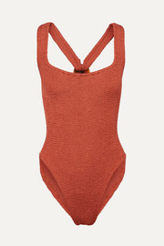 Hunza G Zora seersucker swimsuit