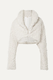 Cult Gaia Evie cropped faux shearling jacket