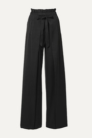 Cult Gaia Naomi tie-front satin wide-leg pants