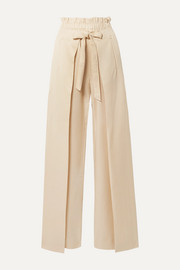 Naomi tie-front Tencel wide-leg pants
