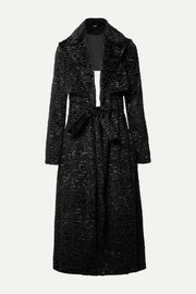 Cult Gaia Aya open-back matelassé velvet coat