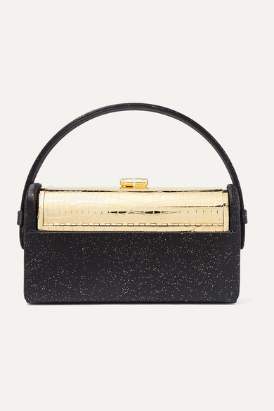 Régine Metallic Satin And Gold Dipped Tote by Bienen Davis