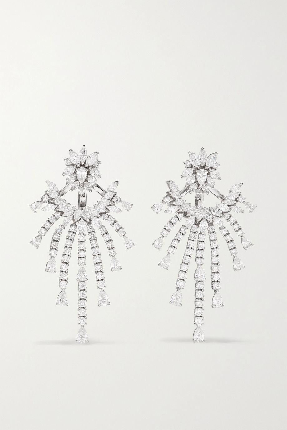 YEPREM Ohrringe aus 18Karat Weißgold mit Diamanten