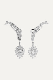 YEPREM 18-karat white gold diamond earrings