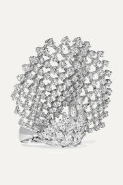 YEPREM 18-karat white gold diamond ring