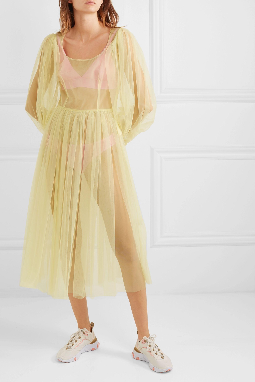 Molly Goddard Bronwyn tulle midi dress