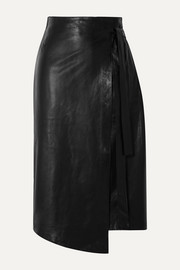 Envelope1976 Sarajevo leather wrap skirt