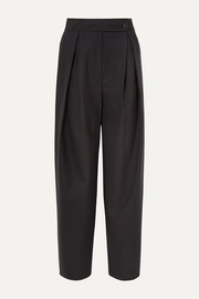 LE 17 SEPTEMBRE Pleated wool wide-leg pants