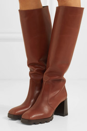 80 leather knee boots