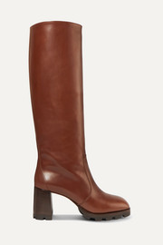 Prada 80 leather knee boots