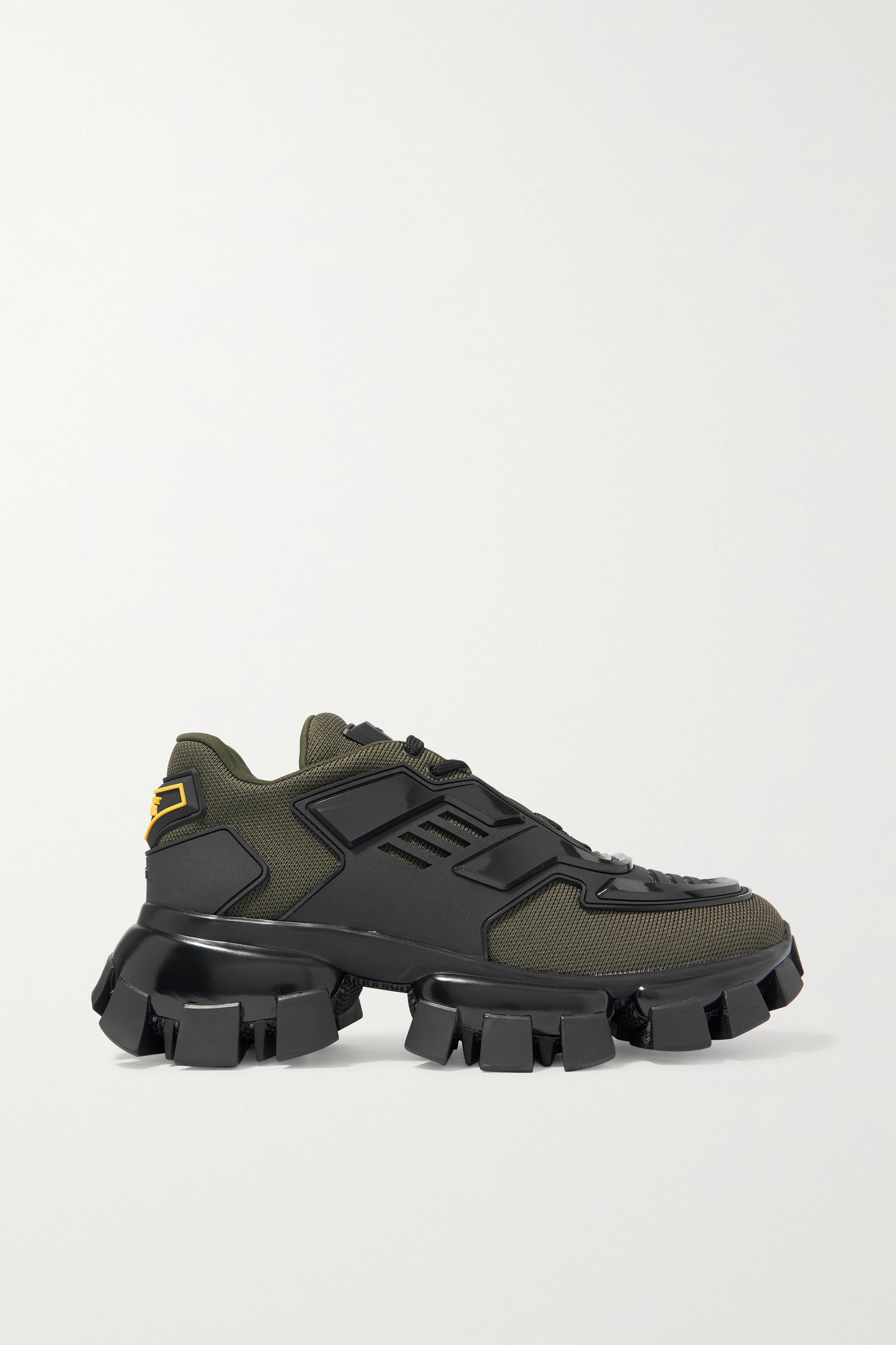 Army green Thunder mesh and rubber