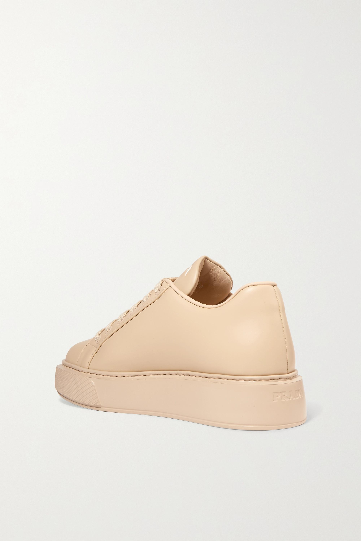 Beige Leather Sneakers | Prada