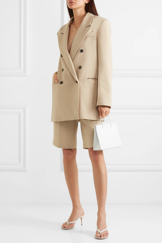 Frankie Shop Julie 双排扣华达呢西装外套
