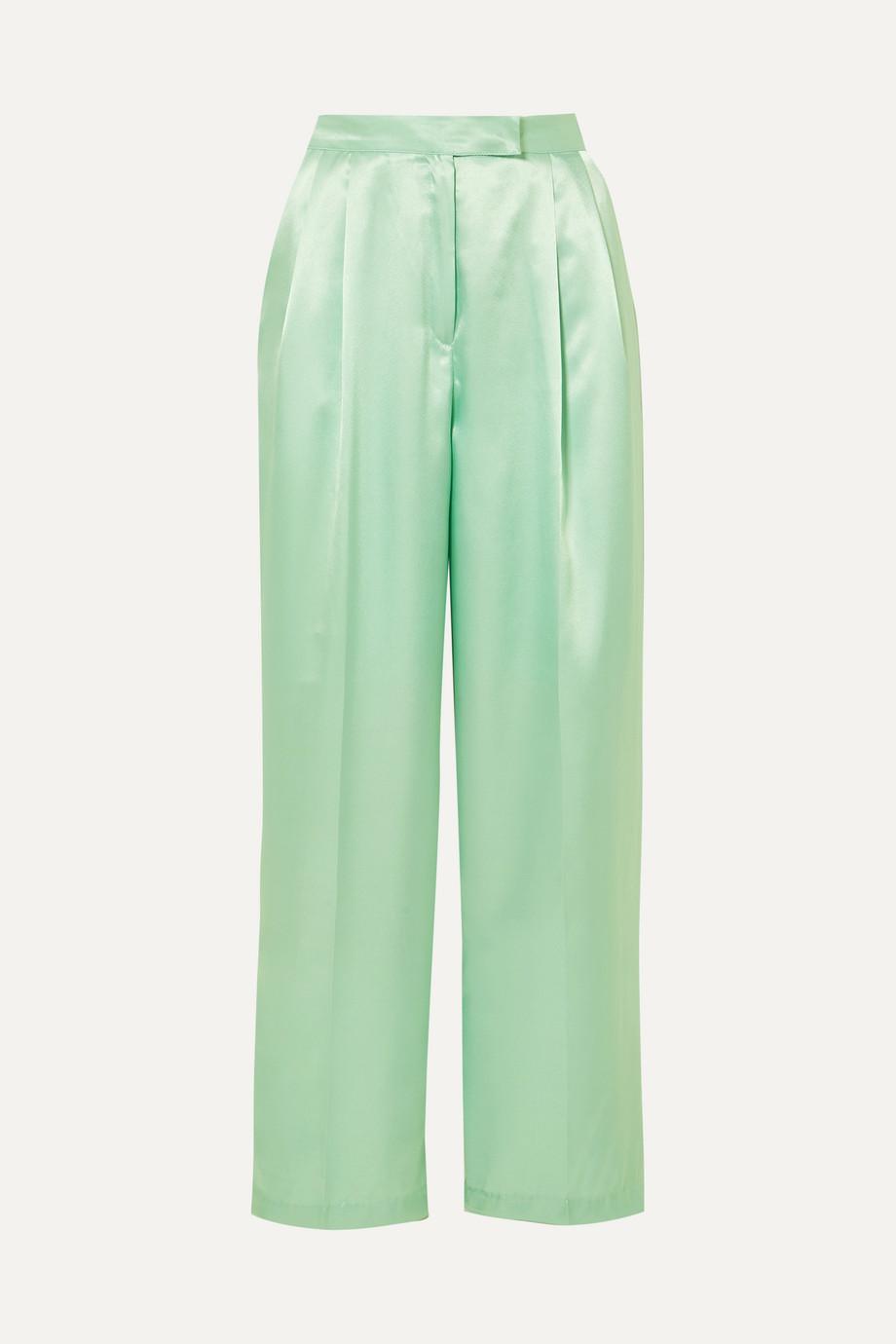 Frankie Shop Karen satin wide-leg pants