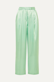 Karen satin wide-leg pants