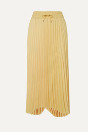Karen asymmetric pleated cady midi skirt