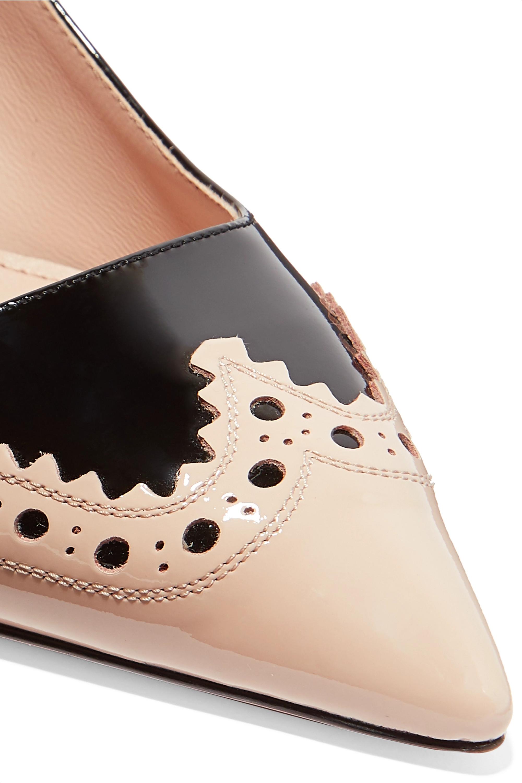 Miu Miu Perforated two-tone patent-leather pumps