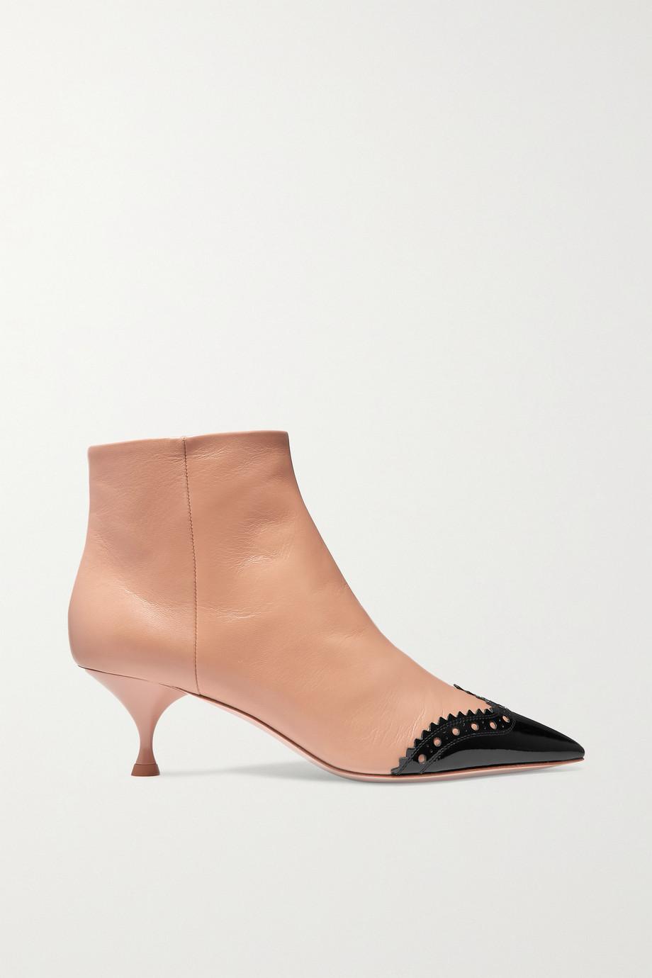 Miu Miu Two-tone leather ankle boots