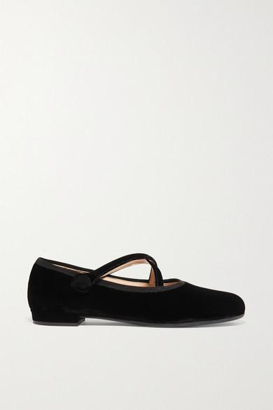 Velvet Ballet Flats by Miu Miu