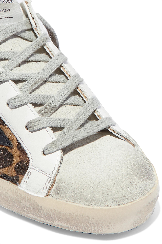 Leopard print Superstar distressed