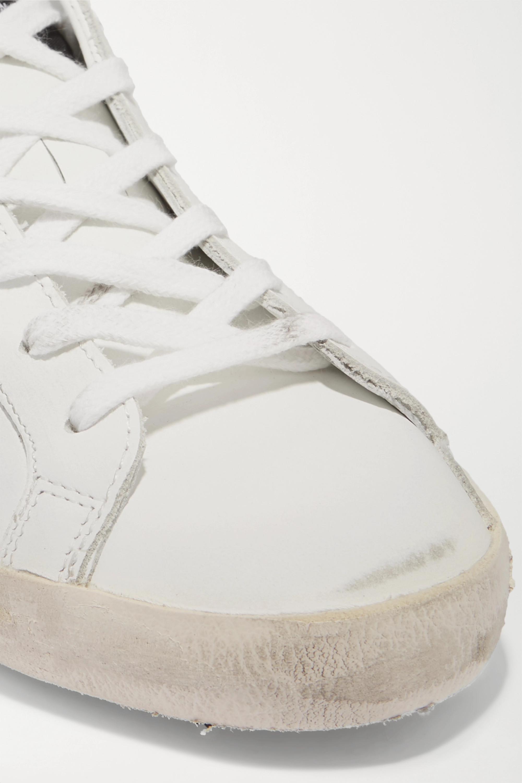 Golden Goose Superstar Sneakers aus Leder mit Glitter-Finish in Distressed-Optik
