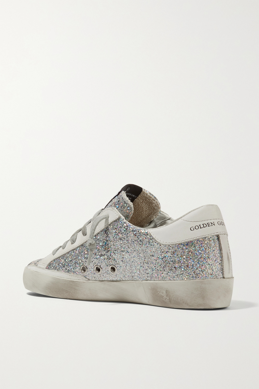 Golden Goose Superstar 仿旧亮片金葱皮革运动鞋