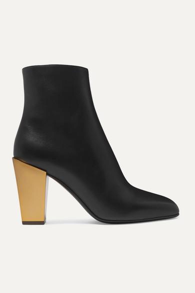 Teti Leather Ankle Boots by Salvatore Ferragamo